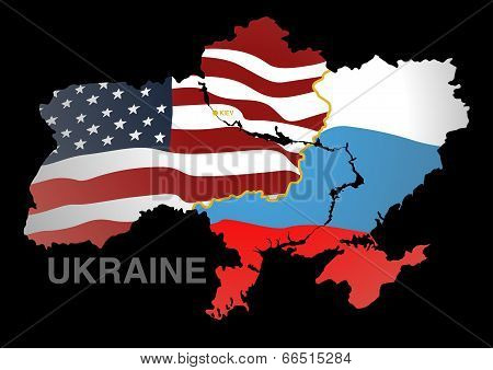 Ukraine Map Us V Rus
