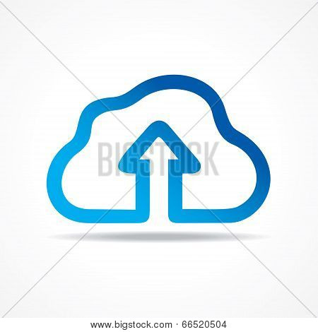 Blue cloud make a business arrow  stock vector