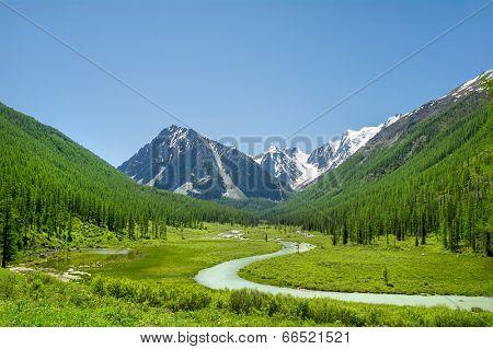 Russian Altai mountain landscape