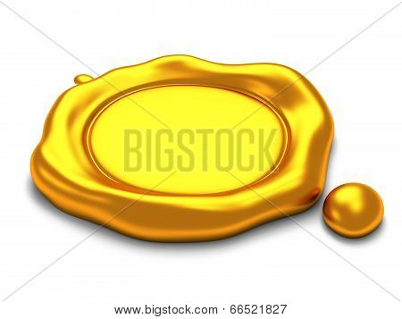 Gold Wax Seal With Space For Text