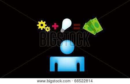Money idea vector