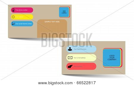 Popular design vector business card options