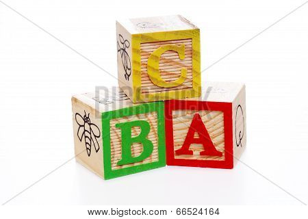 Abc Blocks On White