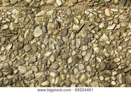 Background, Gray, White Pebbles