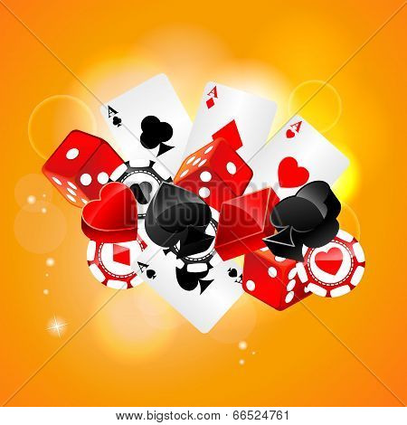 Casino playing card element