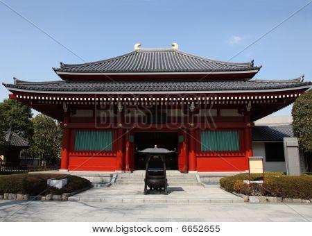 Temple building at Senso Ji - Asakusa - Tokyo Japan