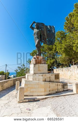 Monuments And Sculptures Greece, Chania, Crete.traditional Pictorial Street - Vintage Artistic Serie
