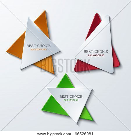 Vector moder banners element design