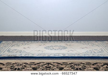 Blank Wall With Carpets