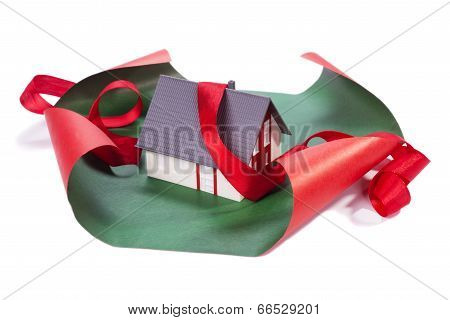 House In Gift Paper