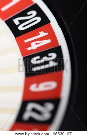 Close view of casino roulette