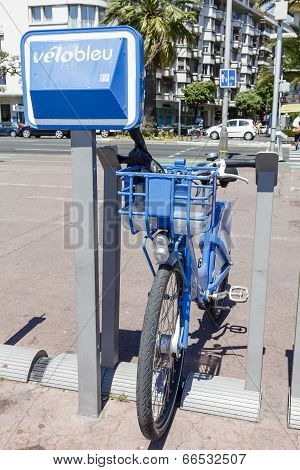 Bicycle For Hire At Promenade Des Anglais