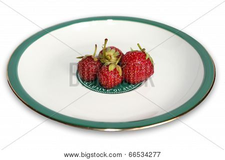 Strawberry On The Plate