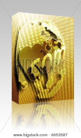 Dotcom Illustration Box Package