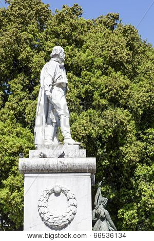Monument To Giuseppe Garibaldi In Nice