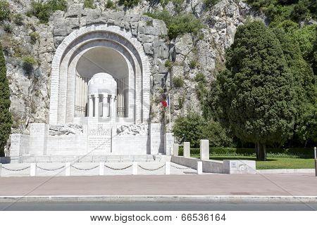 War Memorial In Nice