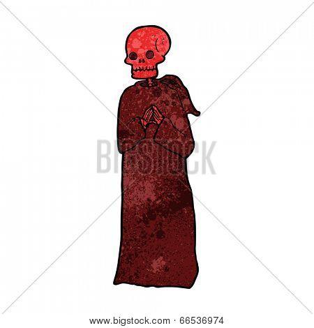 cartoon spooky skeleton in robe