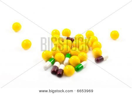 Medicine Pills And Vitamines