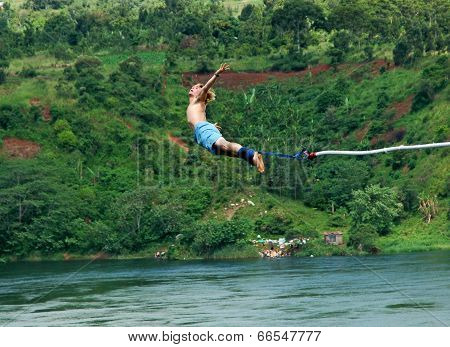 Bungee Jumping Over the Nile Africa