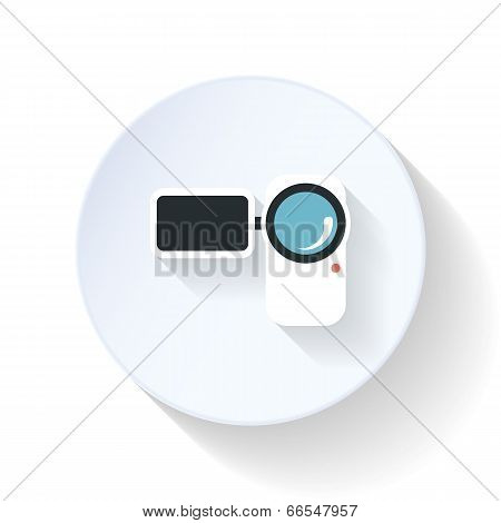 Camcorder Flat Icon