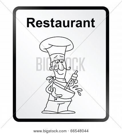 Restaurant Information Sign