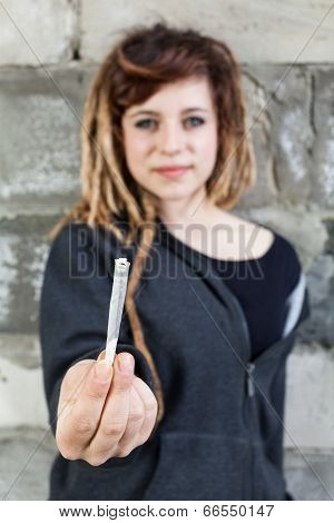 Young Girl Before Smoking Weed