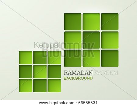 Vector ketupat element design.