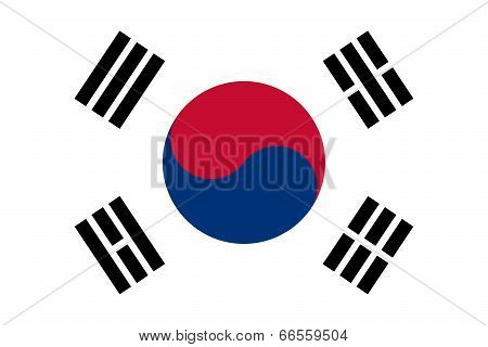National flag of South Korea, Authentic version - color and scale