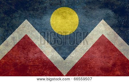 Flag of Denver city Colorado, Vintage version