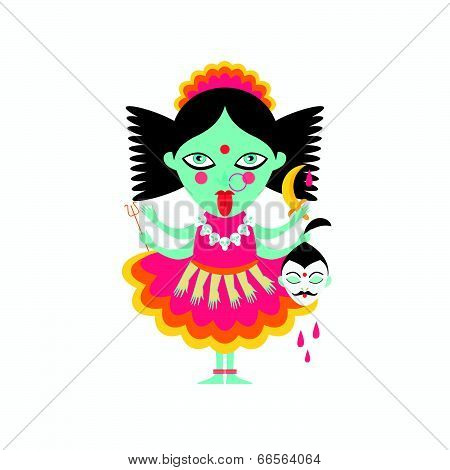 abstract Hindu  goddess kali religion cult india