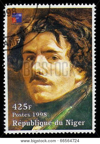 Painting By Eugene Delacroix,  Self Portrait