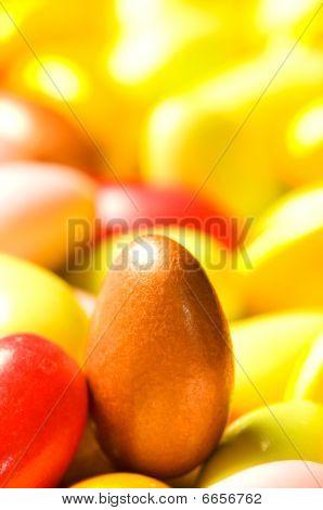 Ovos de chocolate, de várias cores - Dof raso
