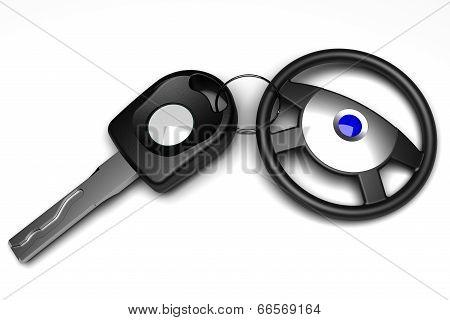 Car Key with steering wheel