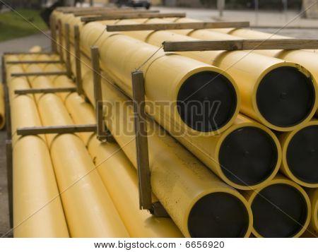 Tubos de amarelos