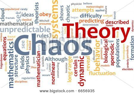 Chaos-Theorie Wort-Wolke