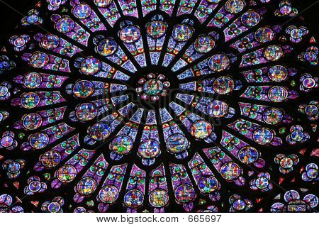 Rose Window At Notre Dame