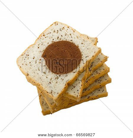 Eatable bread with sesame
