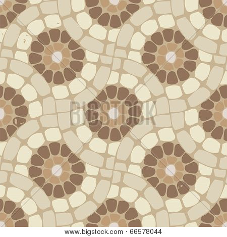 Vector Tile Mosaic Floor, Stone Background Pattern