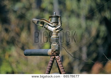 Irrigation With Sprayer In A Garden