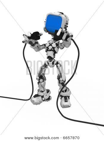 Blue Screen Robot, Plug And Socket