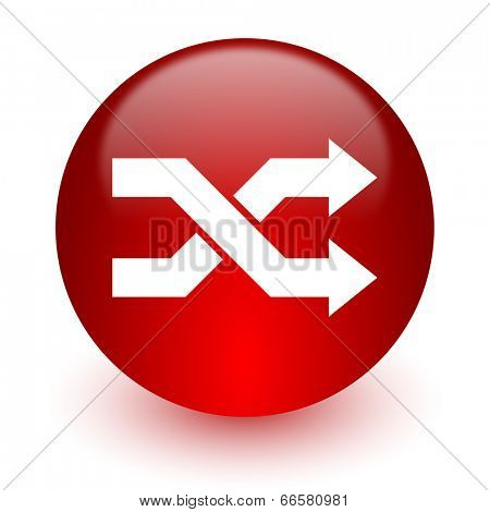 aleatory red computer icon on white background