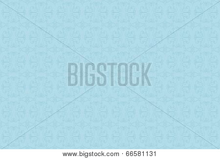 light blue background with blue pattern.