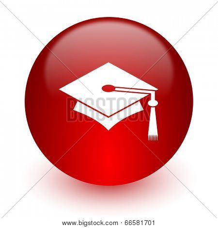 education red computer icon on white background
