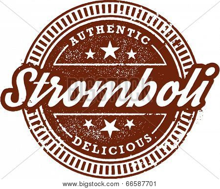 Authentic Italian Stromboli Restaurant Menu Stamp