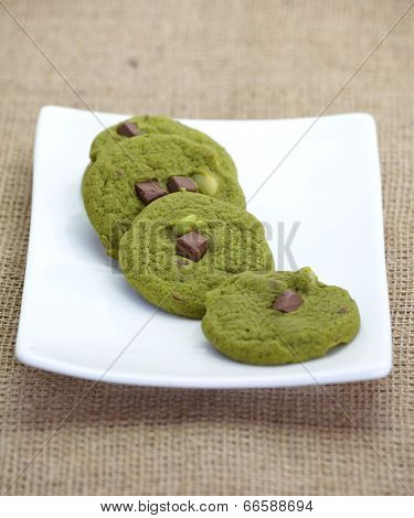 green tea cookie