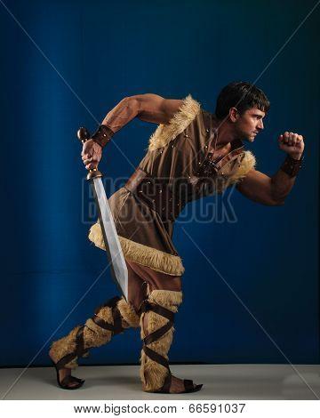 sexy viking running
