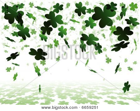 White shamrock background