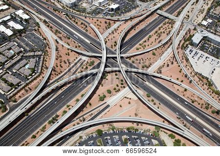Elevated Interstate Interchange
