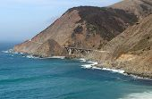 image of pch  - Bridge and mountains along Highway 1 in California - JPG