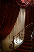 foto of spiral staircase  - Vertical color shot of a vintage spiral staircase - JPG